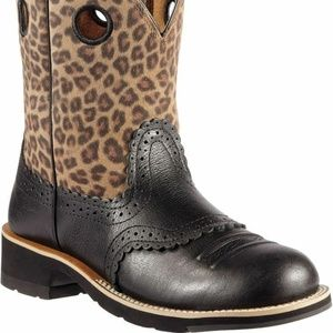 New Ariat 10010918 Fatbaby Cowgirl leopard print